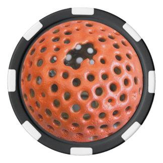 Jeton de poker orange