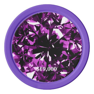 Jeton de poker pourpre de gemme de diamant