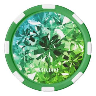Jeton de poker vert de gemme de filtre de