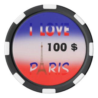 JETONS DE POKER, amants de PARIS