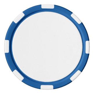 Jetons de poker avec le bord rayé bleu