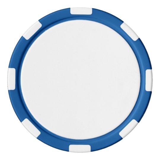 Jetons de poker en argile, Bleu Bord à rayures