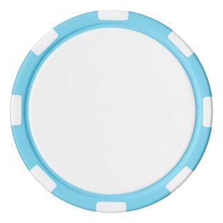 Jetons de poker avec le bord rayé de bleus layette