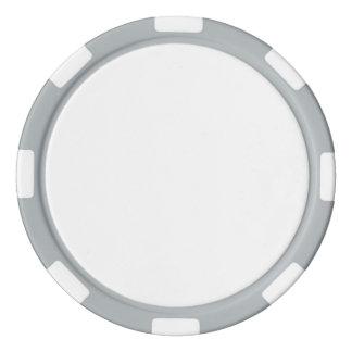Jetons de poker avec le bord rayé gris