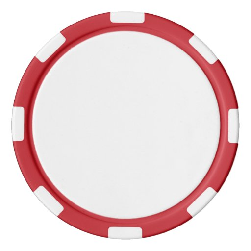 Jetons de poker en argile, Red Bord à rayures