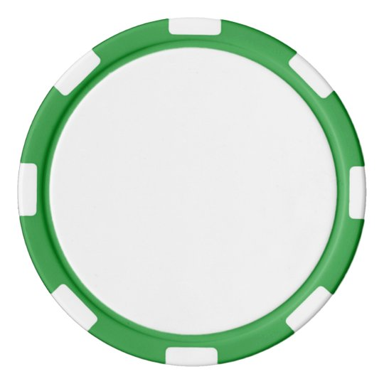 Jetons de poker en argile, Vert Bord à rayures