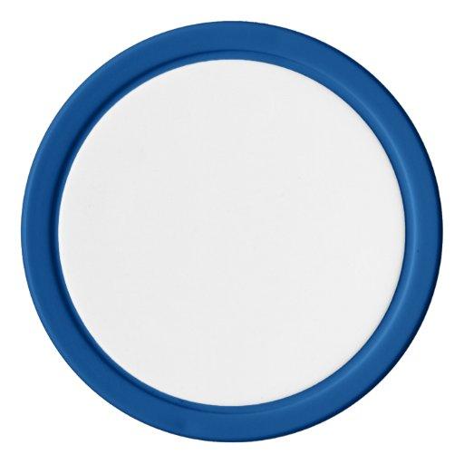 Jetons de poker en argile, Bleu Bord couleur argent