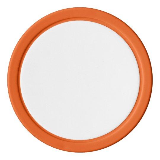 Jetons de poker en argile, Orange Bord couleur argent