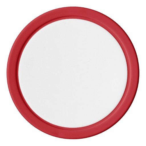 Jetons de poker en argile, Red Bord couleur argent