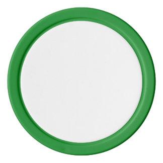 Jetons de poker avec le bord solide vert