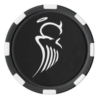 Jetons de poker bipolaires d'ange