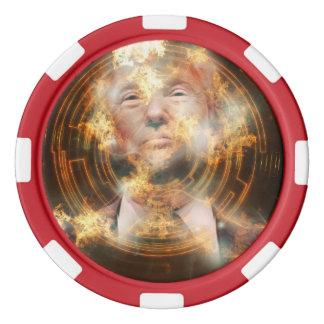 Jetons de poker d'argile d'atout, bord rayé rouge