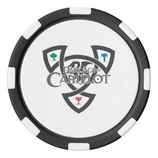 Jetons de poker d'argile de noeud de DAoC, bord