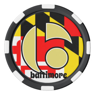 Jetons de poker de Baltimore, drapeau du Maryland