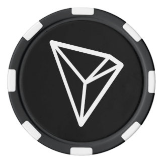 Jetons de poker de logo de TRON TRX