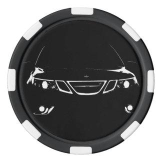 Jetons de poker de Saab
