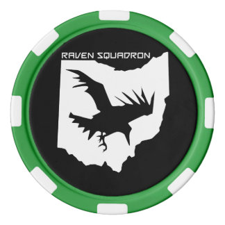 Jetons de poker d'escadron de Raven