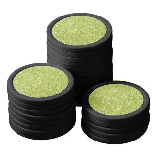 Jetons De Poker Étincelles de scintillement de vert de chaux