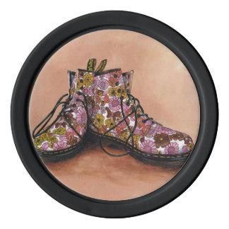 Jetons de poker floraux de Dr. Martens Boots