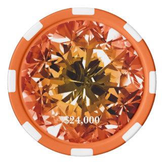 Jetons De Poker Gemme citrine de diamant de filtre de topaze