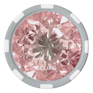 Jetons De Poker Gemme rose de diamant de filtre de Puerto Madero
