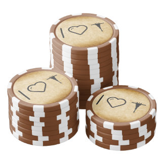 Jetons De Poker I marteaux piqueur de coeur