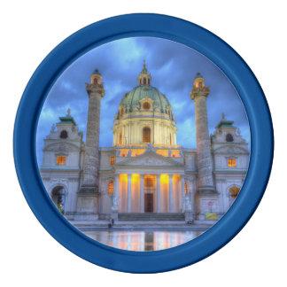 Jetons De Poker L'église de Charles de saint à Vienne, Autriche