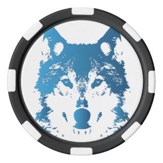 Jetons De Poker Loup de bleu glacier d'illustration
