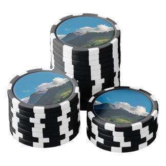 Jetons De Poker Village de montagne de la Suisse Adelboden à l'été