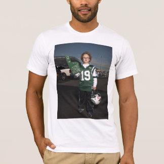 Jets contre la fête d'avant-match de patriotes t-shirt