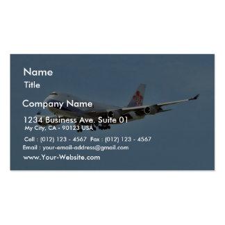 Jets d'avions cartes de visite professionnelles