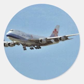 Jets d'avions sticker rond