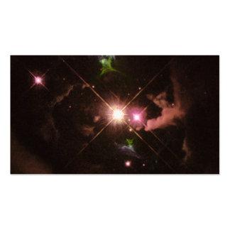 Jets de matériel éjectés d'une jeune étoile carte de visite