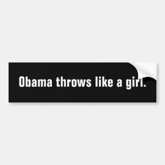 Jets d'Obama comme une fille Autocollant Pour Voiture