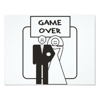 Jeu au-dessus de mariage carton d'invitation 10,79 cm x 13,97 cm