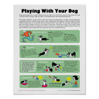 Jeu avec votre chien posters