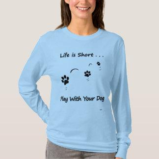 Jeu avec votre chien t-shirt