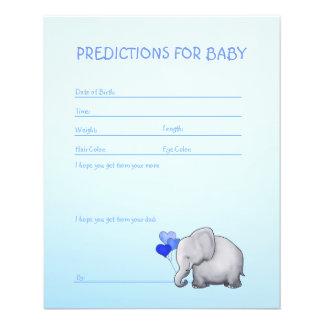 Jeu bleu de prévisions de douche de bébé prospectus 11,4 cm x 14,2 cm