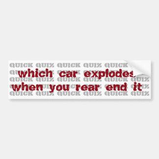 jeu-concours : quelle voiture éclate quand vous autocollant de voiture