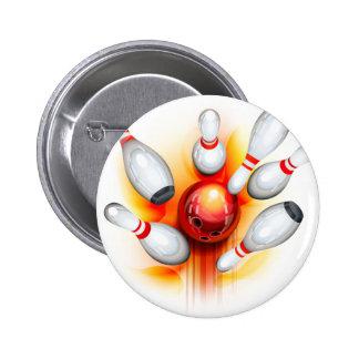 Jeu de bowling (vue supérieure) badges