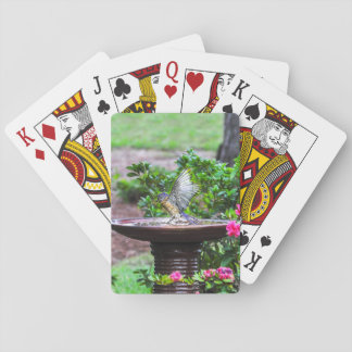 Jeu De Cartes 030 cartes de jeu de Bath d'oiseau bleu