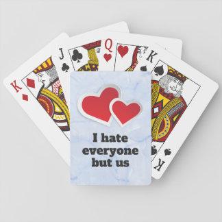 Jeu De Cartes 2 coeurs rouges - je déteste chacun mais nous