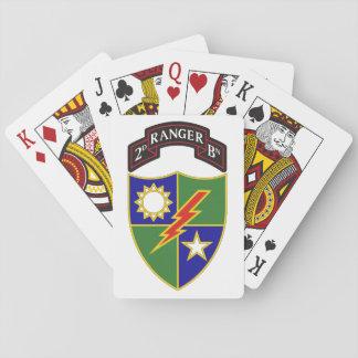 Jeu De Cartes 2ème bataillon - soixante-quinzième cartes de jeu