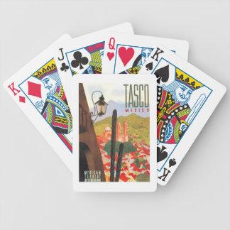 Jeu De Cartes Affiche 1950 de voyage de Tasco Mexique