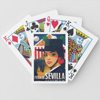 Jeu De Cartes Affiche 1969 juste de l'Espagne Séville avril