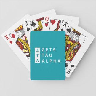 Jeu De Cartes Alpha de Tau de Zeta empilé