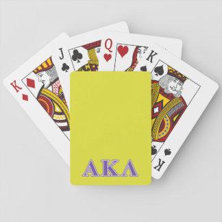 Jeu De Cartes Alpha Kappa lettres pourpres et jaunes de lambda
