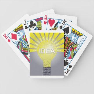 Jeu De Cartes Ampoule typographique d'IDÉE