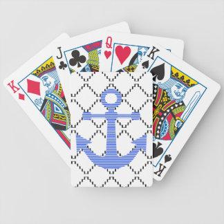 Jeu De Cartes Ancre bleue - motif géométrique abstrait - noir