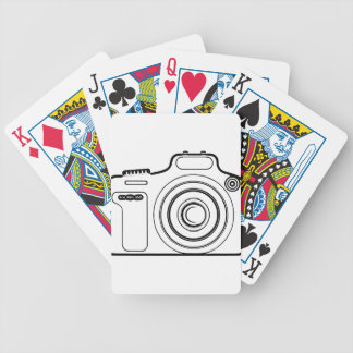 Jeu De Cartes Appareil-photo noir et blanc